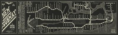 Giclee Subway Map Wall Art, , large