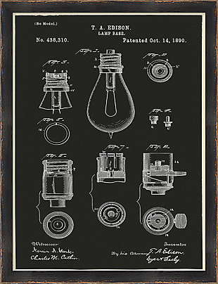 Giclee Lightbulb Diagram Wall Art, , large