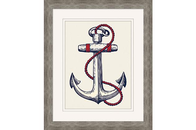 Giclee Nautical Anchor Wall Art, , large