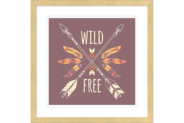 Giclee Boho Feather Wall Art, , large