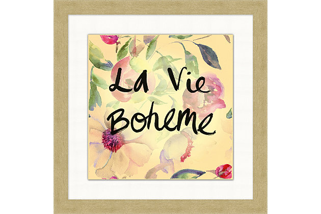 Giclee La Vie Boheme Wall Art, , large