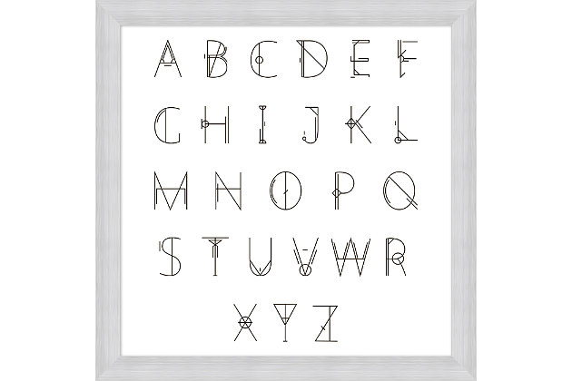 Giclee Alphabet Chart Wall Art, , large