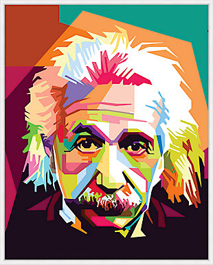 Giclee Colorblock Einstein Wall Art, , large