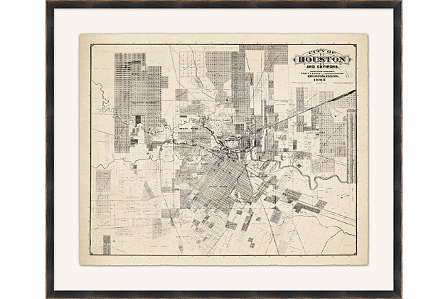 Giclee Houston Map Wall Art, , large