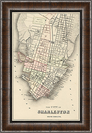 Giclee Charleston Map Wall Art, , rollover
