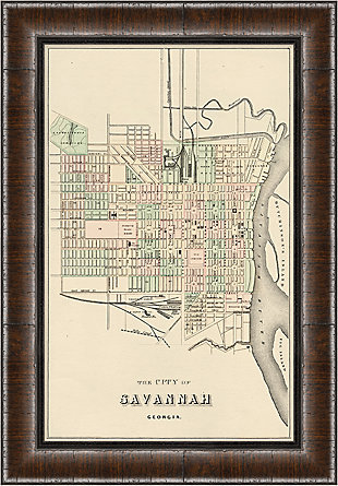 Giclee Savannah Map Wall Art, , rollover