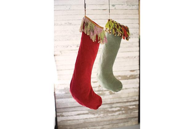 Decorative Christmas Stockings (Set of 2), , large