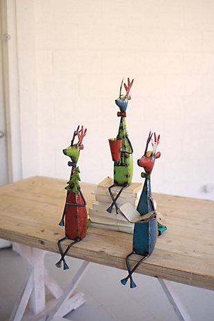 Decorative Metal Deer (Set of 3), , large