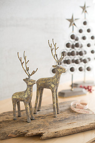Decorative Christmas Deer (Set of 2), , rollover