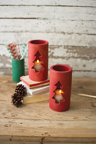 Decorative Christmas Luminary (Set of 2), , large