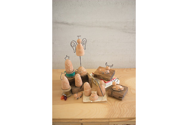 Decorative Nativity Set with Wire Details (Set of 10), , large
