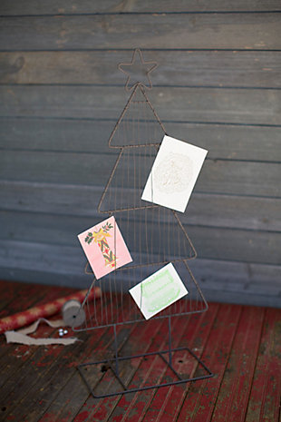 Decorative Metal Christmas Tree Card Holder, , large