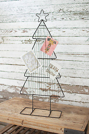 Decorative Metal Christmas Tree Card Holder, , large