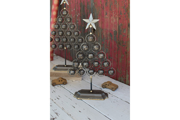 Decorative Christmas Bell Trees (Set of 2), , large