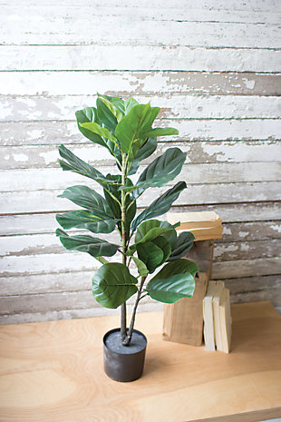 Home Accent Artificial Fiddle Leaf Plant, , large