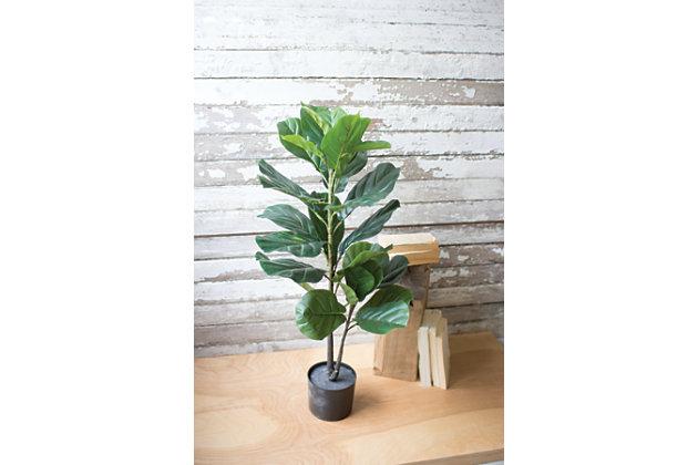 Home Accent Artificial Fiddle Leaf Plant, , large