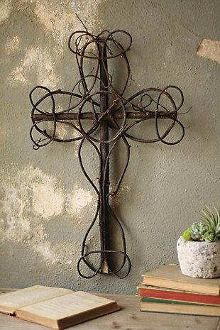 Decorative Black Vine Decorative Cross, , large