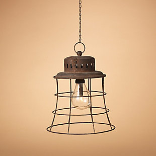 Decorative Antique-Styled Metal Hanging Lantern, , rollover