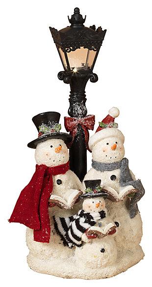 Decorative Snowman Carolers Figurine, , large