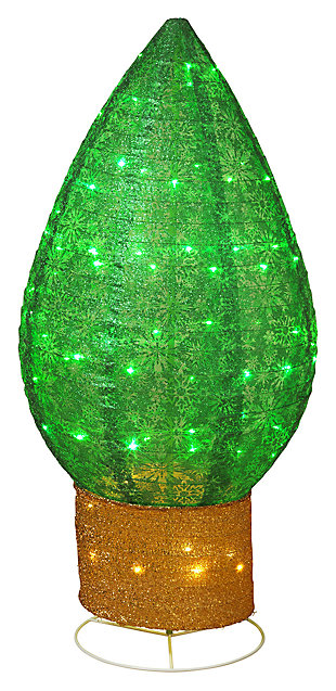 """Decorative 42"""" Christmas Bulb Decoration with Snowflake Accents, , large"""