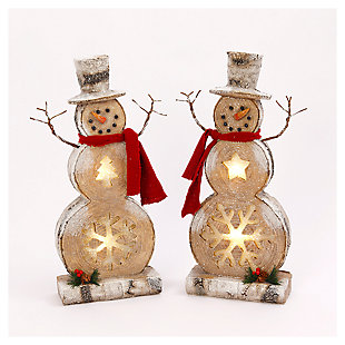Decorative Snowman Table-Top Figurines (Set of 2), , large
