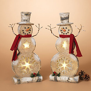 Decorative Snowman Table-Top Figurines (Set of 2), , rollover