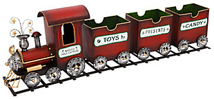 Decorative Holiday Train on Tracks, , large