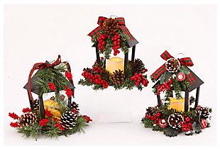 Decorative Holiday Lanterns (Set of 3), , large