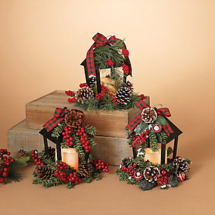 Decorative Holiday Lanterns (Set of 3), , rollover