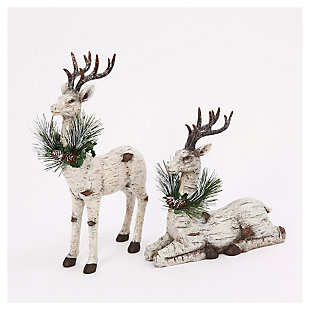 Decorative Reindeer Table-Top Figurines (Set of 2), , rollover