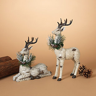 Decorative Reindeer Table-Top Figurines (Set of 2), , large