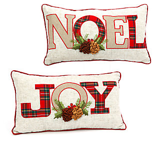 Decorative Holiday Throw Pillows (Set of 2), , large