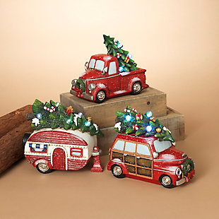 Decorative Holiday Vehicles with Timer Feature (Set of 3), , rollover