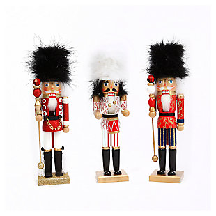 "Decorative 15"" Nutcracker Figurines (Set of 3), , large"