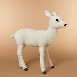 "Decorative 33"" White Baby Deer, , rollover"