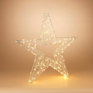 """Decorative 33"""" Open Wire Star Ornament, , rollover"""