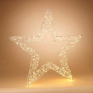 "Decorative 44"" Open Wire Star Ornament, , rollover"