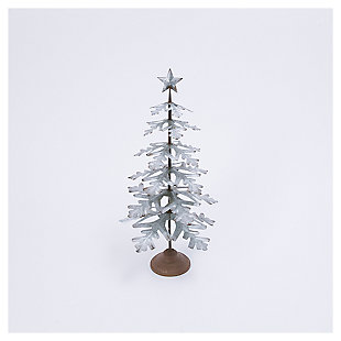 "Decorative 27.8"" Metal Tabletop Evergreen Tree with Star Topper Accent, , large"