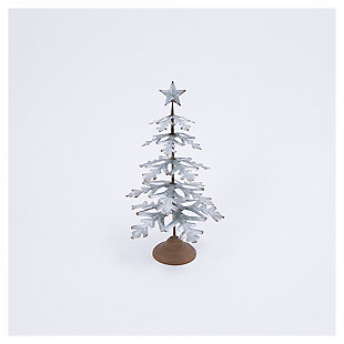 """Decorative 23"""" Metal Tabletop Evergreen Tree with Star Topper Accent, , large"""