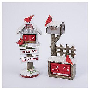 """Decorative 10.5"""" Holiday Cardinal Bird House (Set of 2), , large"""