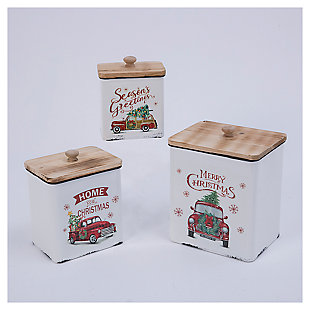 Decorative Nesting Holiday Truck Containers (Set of 3), , large
