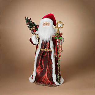 """Decorative 36"""" Traditional Santa Figurine, , rollover"""