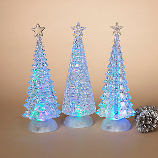 Decorative Spinning Water Globes Tree (Set of 3), , rollover