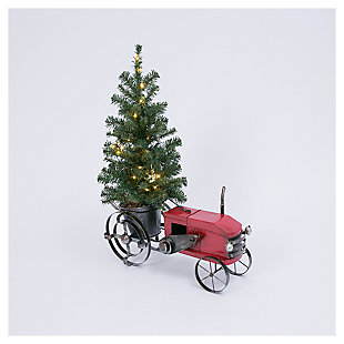 "Decorative 28.75"" Tractor with Decorated Tree, , large"
