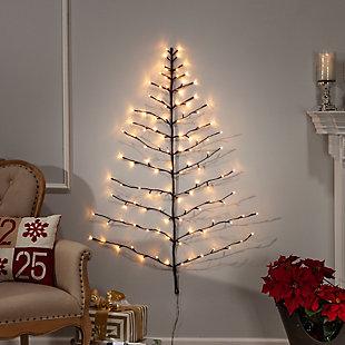 Decorative 4' Tree Shape Birch Wall Décor, , rollover