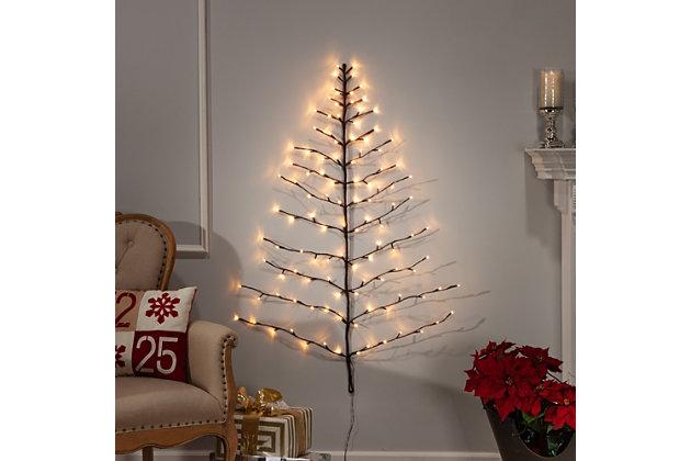 Decorative 4' Tree Shape Birch Wall Décor, , large