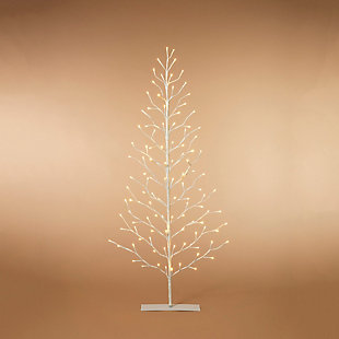 Decorative 5' 2D Tree with White LED Lights, , large