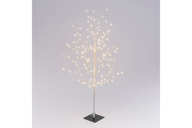 """Decorative 47.2"""" Tree with White Micro LED Lights, , large"""