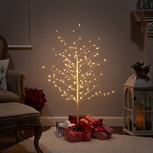 "Decorative 47.2"" Tree with White Micro LED Lights, , rollover"