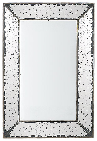 Home Accents Mirror, Antique Silver Finish, large